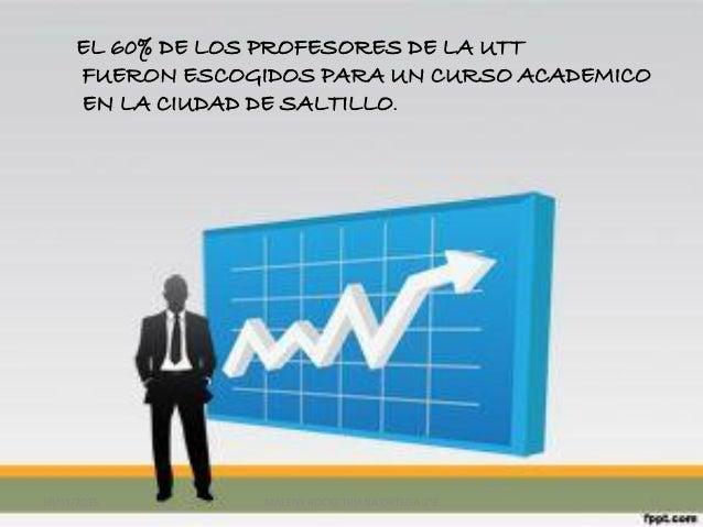 EL 60% DE LOS PROFESORES DE LA UTT FUERON ESCOGIDOS PARA UN CURSO ACADEMICO EN LA CIUDAD DE SALTILLO. 10/01/2015 MALENY RO...