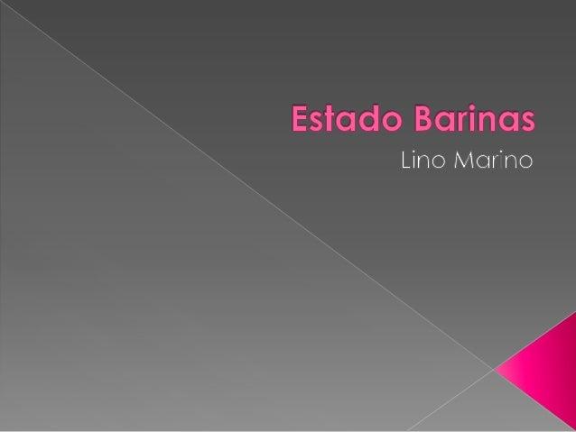 Fundado el 30 de Junio de 1577El estado Barinas se encuentra situado en la región sudoccidental deVenezuela con la mayor p...