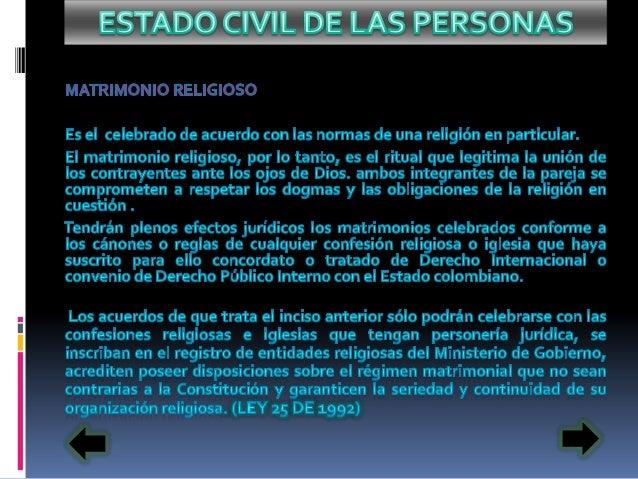 Estado Cívil Colombiano