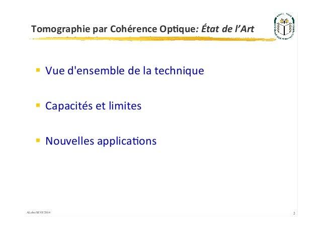 Tomographie par Cohérence Optique: État de l'Art Slide 2