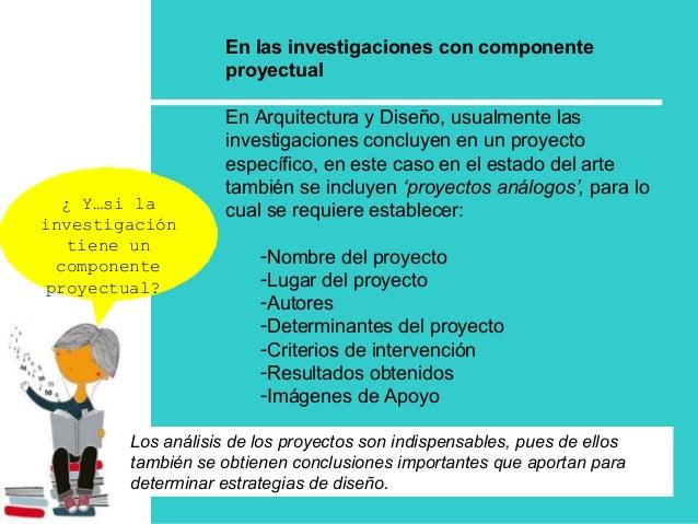 ¿ Y…si la investigación tiene un componente proyectual? En las investigaciones con componente proyectual En Arquitectura y...