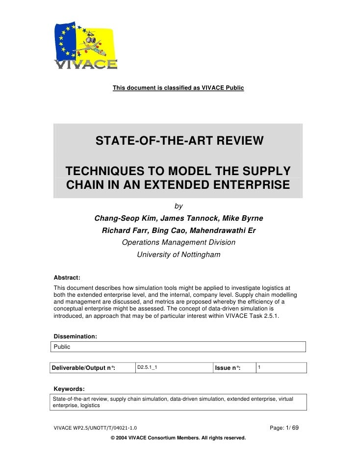 This document is classified as VIVACE Public                       STATE-OF-THE-ART REVIEW       TECHNIQUES TO MODEL THE S...