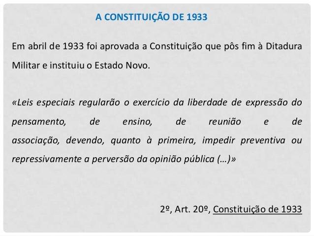 AS ORGANIZAÇÕES FASCISTAS Em 1936 surgiram duas organizações de carater fascista: A  Legião  Portuguesa:  organização para...