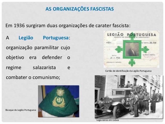Em dezembro de 1937 formou-se  a  Mocidade  Feminina,  cujos  Portuguesa objetivos,  de  acordo com a ideologia do Estado ...