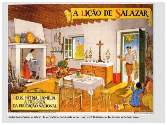 """Cartaz da série """"A lição de Salazar"""", de Martins Barata (um dos sete cartazes que , em 1938, Salazar mandou distribuir por..."""