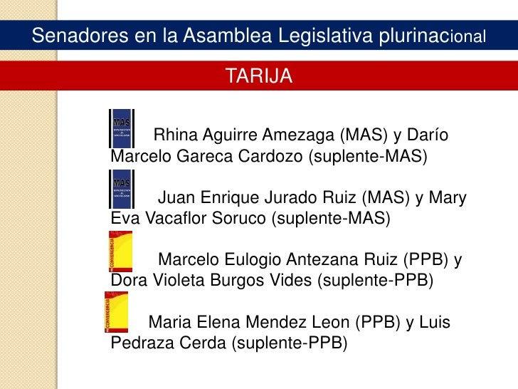 Senadores en la Asamblea Legislativa plurinacional<br />LA PAZ<br />       Ana Maria de Las Nieves Romero (MAS) y Ángel Go...