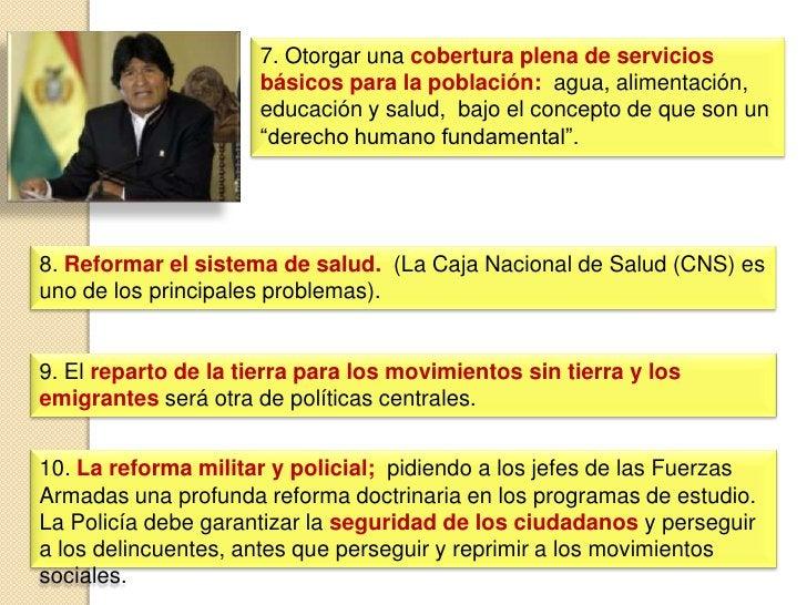 NUEVO GABINETE DE MINISTROS<br /><ul><li>Ministro de Relaciones Exteriores, David Choquehuanca Céspedes.