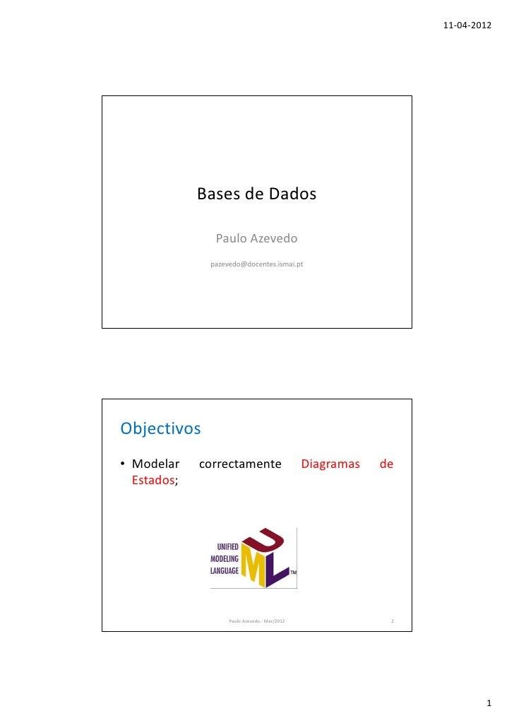 11-04-2012             Bases de Dados               Paulo Azevedo              pazevedo@docentes.ismai.ptObjectivos• Model...