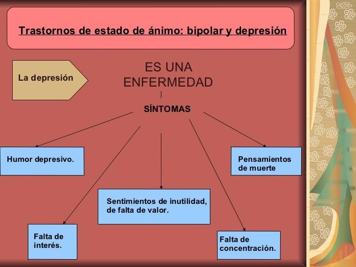 ES UNA ENFERMEDAD La depresión SÍNTOMAS Humor depresivo. Falta de interés. Sentimientos de inutilidad, de falta de valor. ...