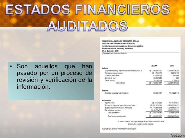 PROCESO DEL ESTADOPROCESO DEL ESTADO FINANCIERO AUDITADOFINANCIERO AUDITADO