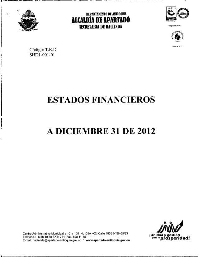 Estados financieros 2012