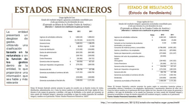 Estados financieros con propósito de información general