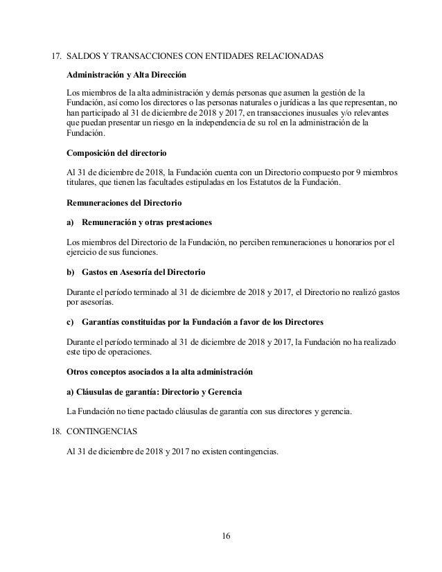 Estados financieros Desafio Levantemos Chile al 31.12.2018