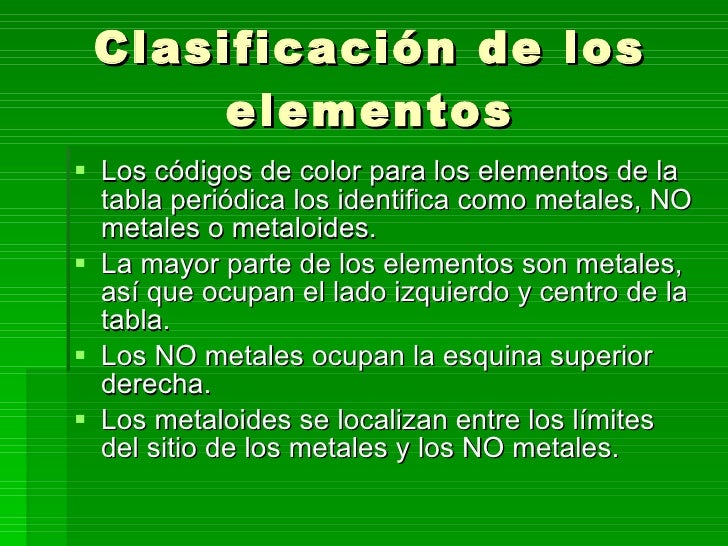 estados fisicos y tipos de elementos - Tabla Periodica Metales No Metales Metaloides
