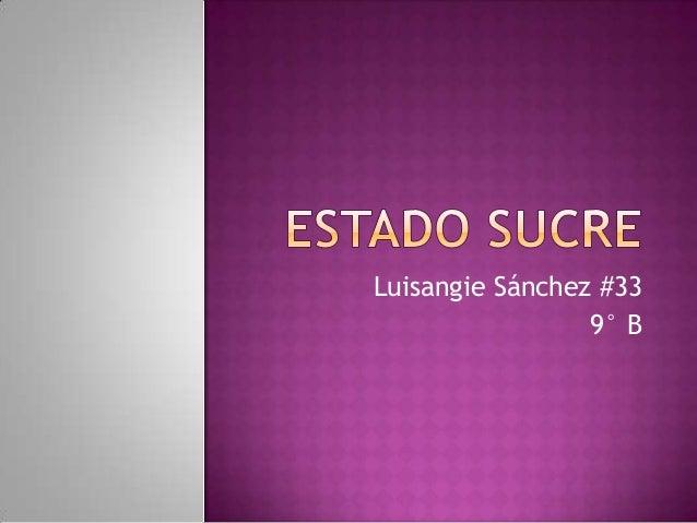 Luisangie Sánchez #33 9° B