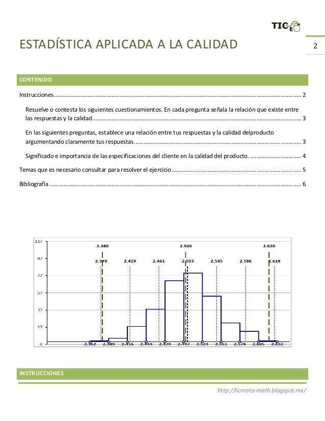Estadística aplicada a la calidad 2016 Slide 2