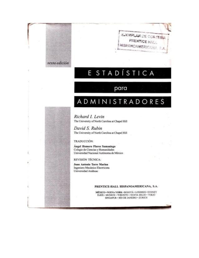 Estadística para administradores 2013