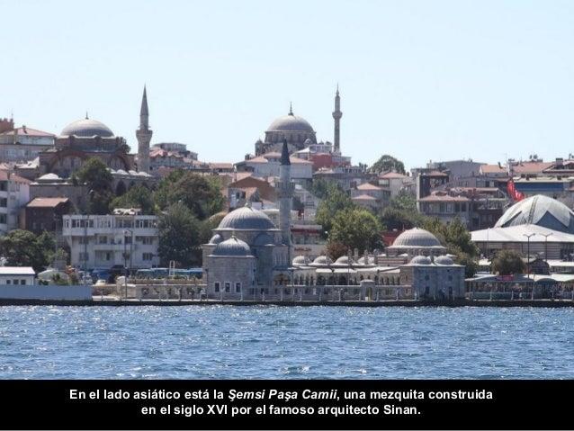 Volviendo al lado europeo vemos la Dolmabahçe Camii y más atrás  el moderno hotel Ritz-Carlton.