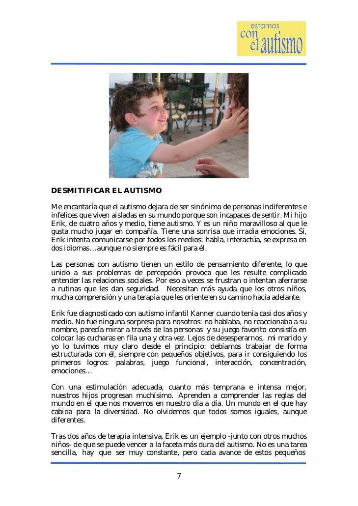 7. DESMITIFICAR EL AUTISMOMe encantaría ... 7eebbb498f03