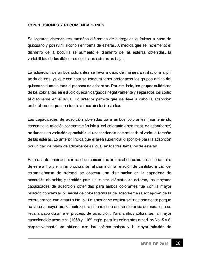 EVALUACION DE LA ADSORCION DE COLORANTES AZOICOS