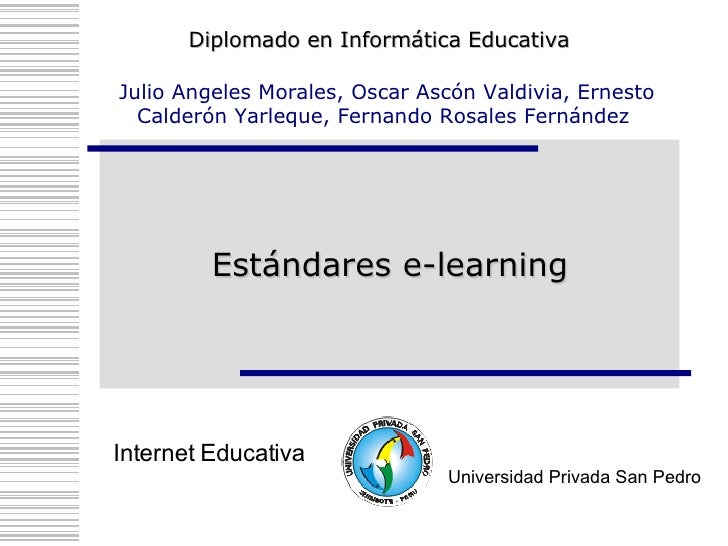 Estándares e-learning
