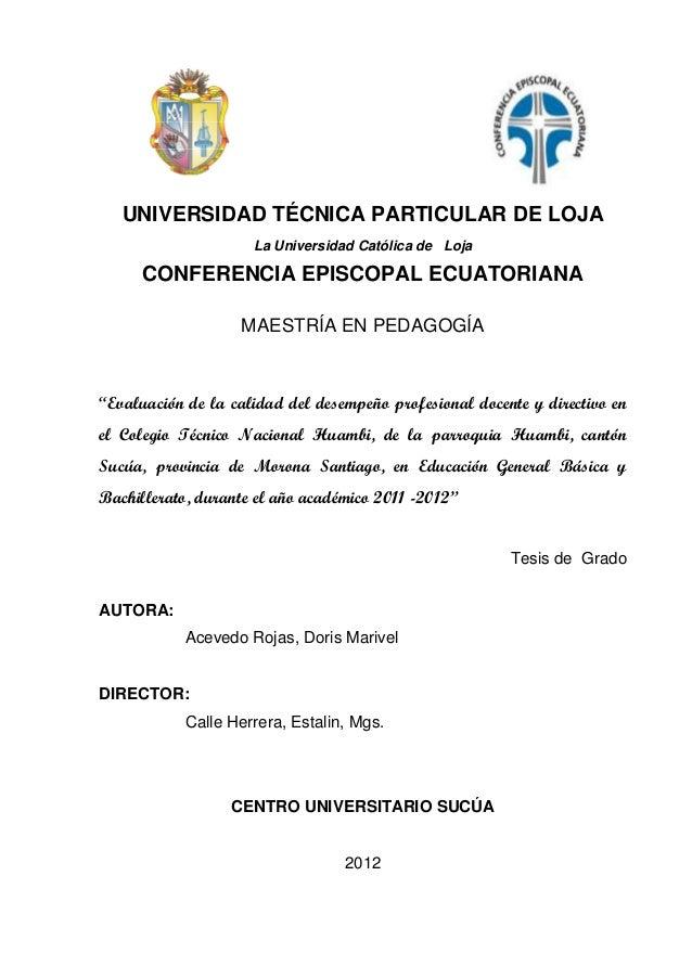1i   UNIVERSIDAD TÉCNICA PARTICULAR DE LOJA                     La Universidad Católica de Loja      CONFERENCIA EPISCOPAL...