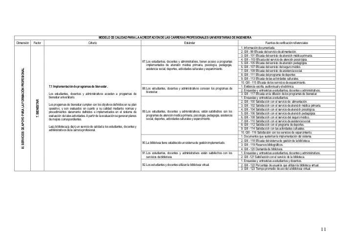Estandares CONEAU carrera ingenieria 051010