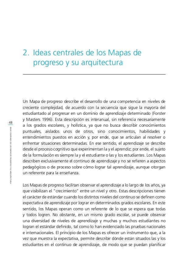 50 IDEASCENTRALESDELOSMAPASDEPROGRESOYSUARQUITECTURA 2.1. Ideas centrales de los Mapas de progreso 2.1.1. Mapas de progres...