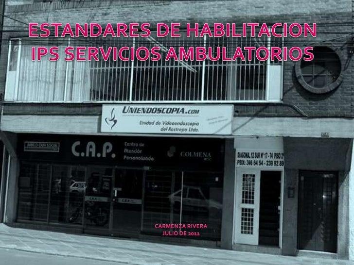 En 1990, la Ley 10 crea el registro especial de institucionesde salud, con el fin de organizar una base de datos de laofer...
