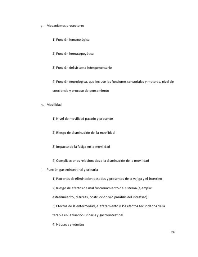 24 g. Mecanismos protectores 1) Función inmunológica 2) Función hematopoyética 3) Función del sistema intergumentario 4) F...