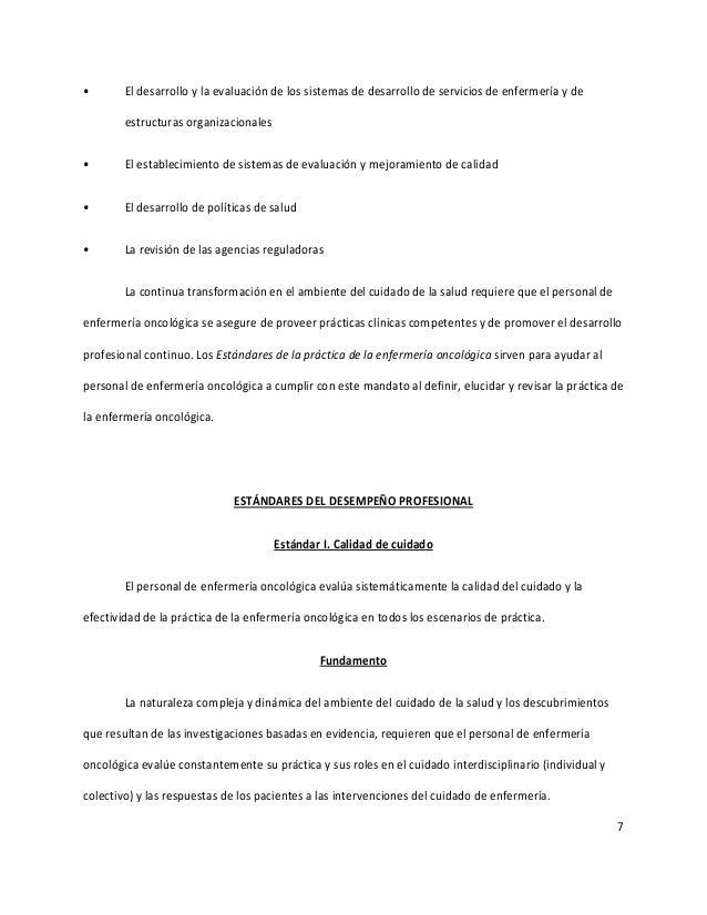 7 • El desarrollo y la evaluación de los sistemas de desarrollo de servicios de enfermería y de estructuras organizacional...