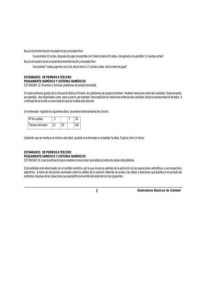 Estandares matematicas