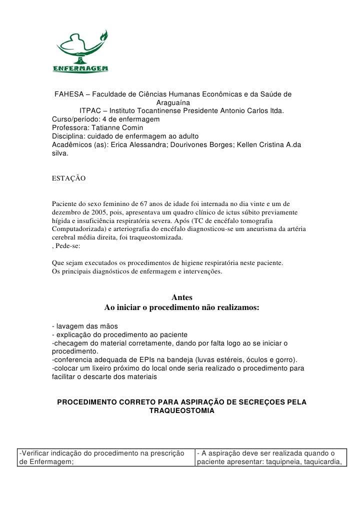 FAHESA – Faculdade de Ciências Humanas Econômicas e da Saúde de                                         Araguaína         ...