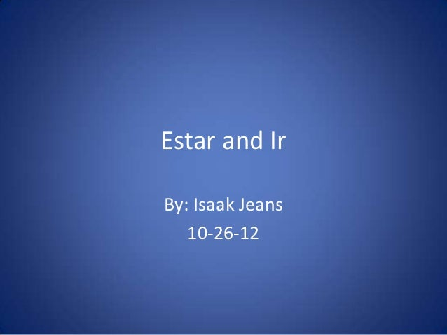 Estar and IrBy: Isaak Jeans   10-26-12