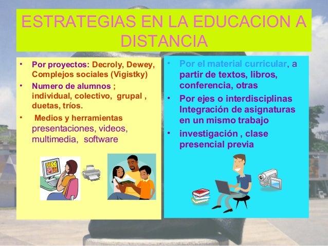 Estrategias para educacion a distancia for Curso de interiorismo a distancia