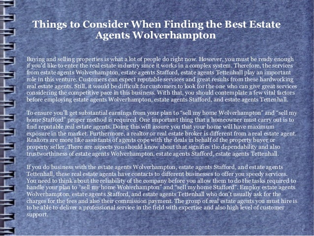 Things to Consider When Finding the Best Estate Agents Wolverhampton Buying and selling properties is what a lot of people...
