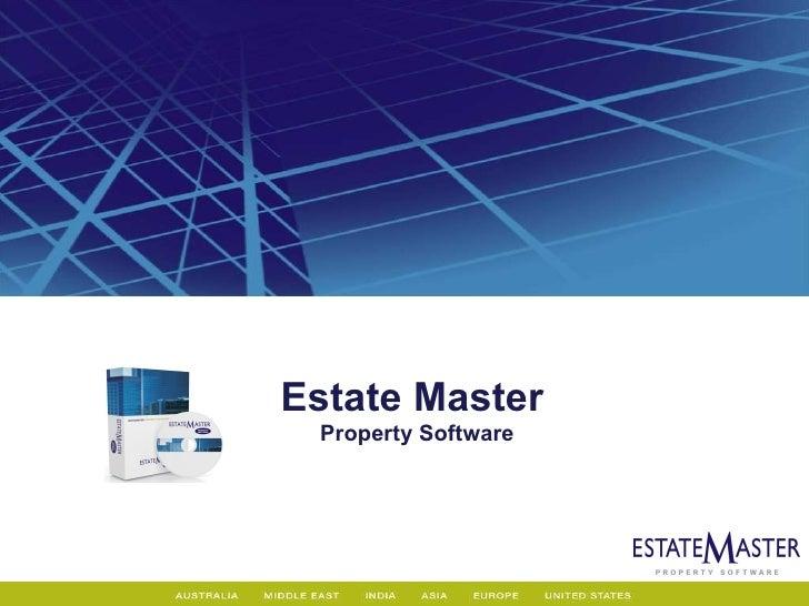 Estate Master   Property Software