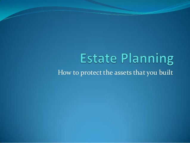 How to protect the assets that you built