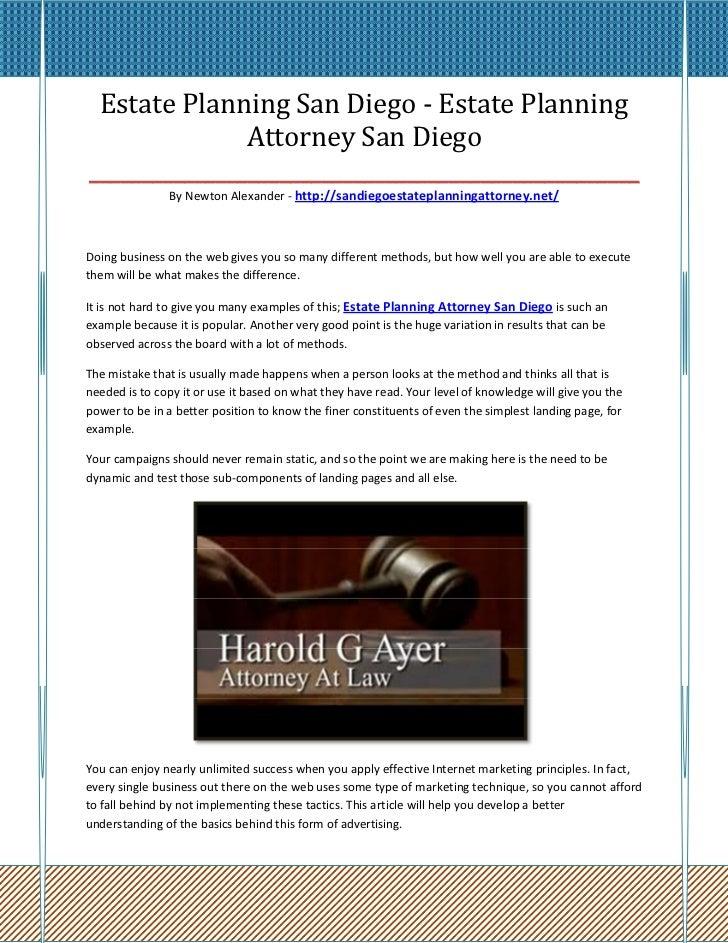 Estate Planning San Diego - Estate Planning               Attorney San Diego______________________________________________...