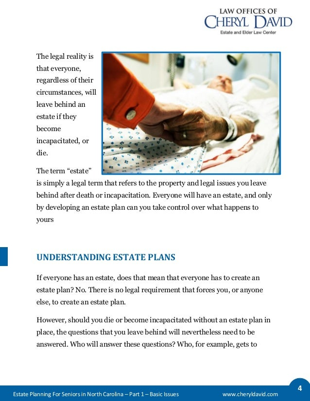 Estate Planning for Seniors in North Carolina: Basic Issues Slide 3