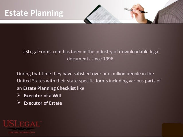 USLegalFormscom Offers Customers Estate Planning Checklist - Us legal forms