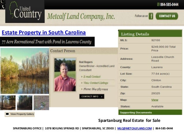 Estate Property in South Carolina  Spartanburg Real Estate for Sale SPARTANBURG OFFICE | 1078 BOILING SPRINGS RD | SPARTAN...