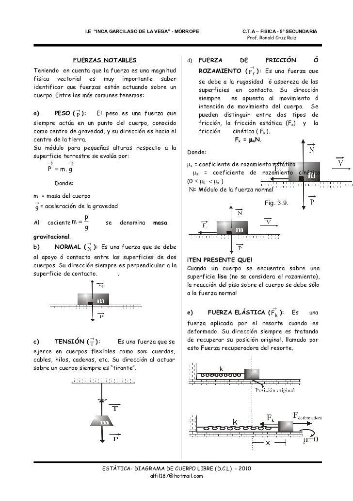 ESTÁTICA - DIAGRAMA DE CUERPO LIBRE D.C.L Slide 2