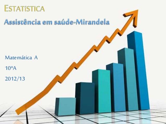Matemática A 10ºA 2012/13