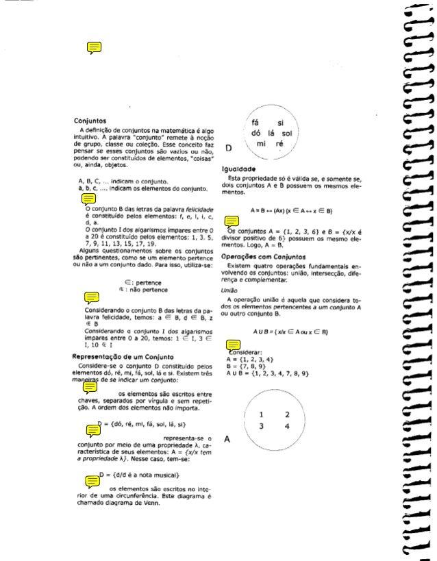 "f/ -. Conjuntos ' fa si $, A defini~sode conjuntos na matematica e aigo intuitivo. A palavra ""conjunto"" remete a no@o db l..."