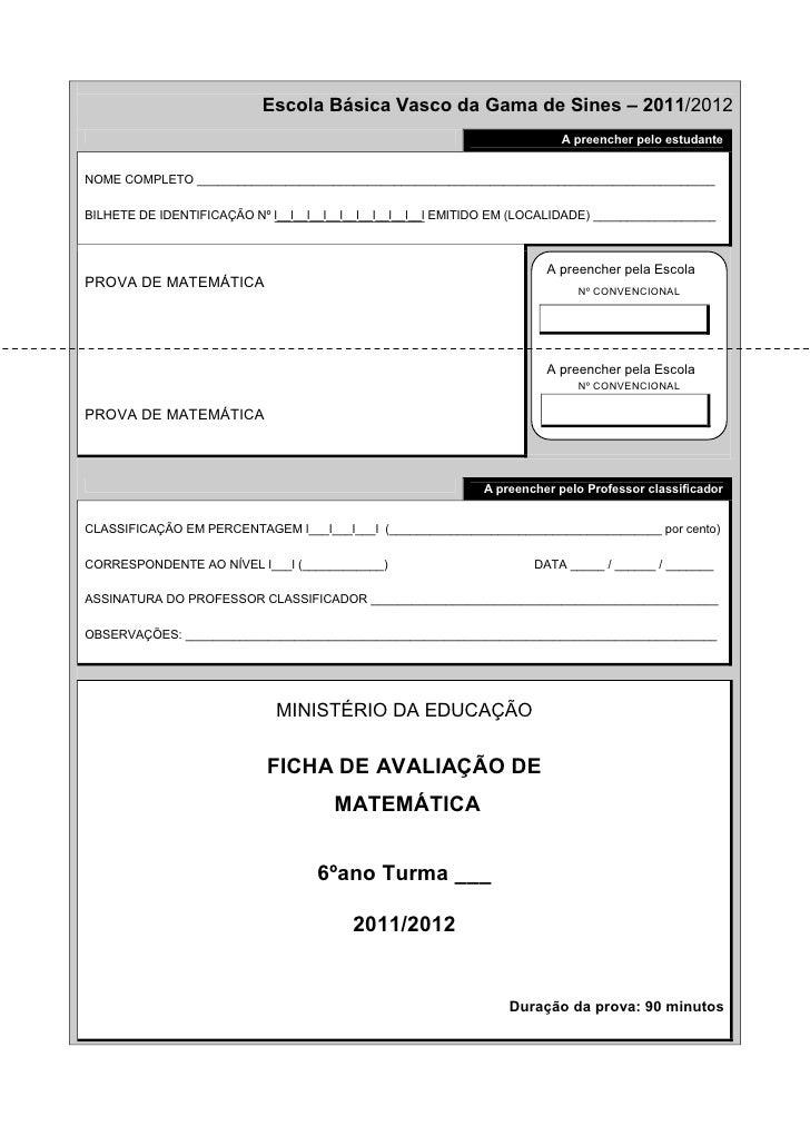 Escola Básica Vasco da Gama de Sines – 2011/2012                                                                          ...