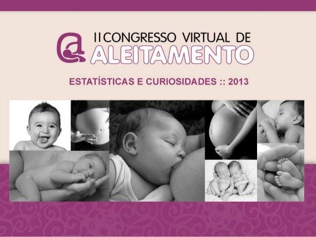 II Congresso Virtual de Aleitamento - balanço, estatísticas, sorteados, fotos...