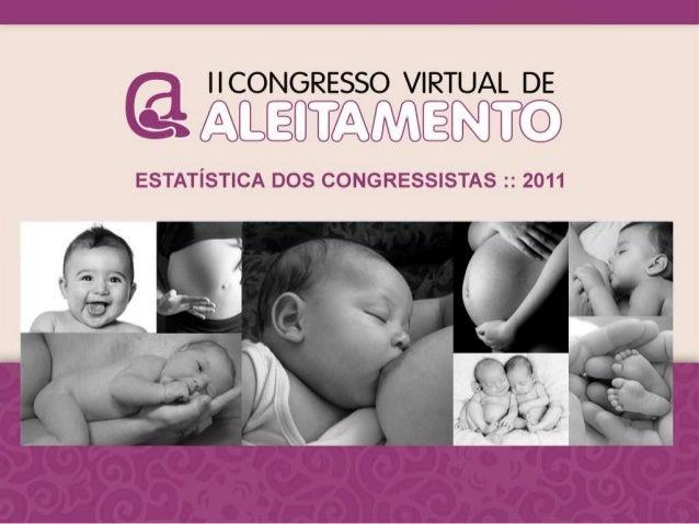 CONGRESSO VIRTUAL de ALEITAMENTO Estatísticas 2011