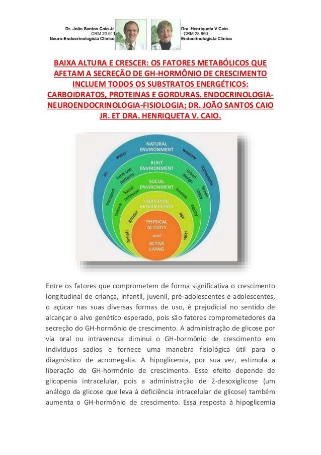 BAIXA ALTURA E CRESCER: OS FATORES METABÓLICOS QUE AFETAM A SECREÇÃO DE GH-HORMÔNIO DE CRESCIMENTO INCLUEM TODOS OS SUBSTR...