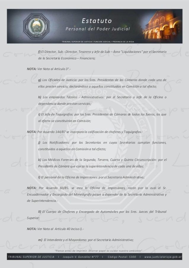 Estatuto del Personal del Poder Judicial de La Rioja